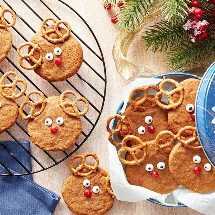 Ginger-Molasses Reindeer Cookies