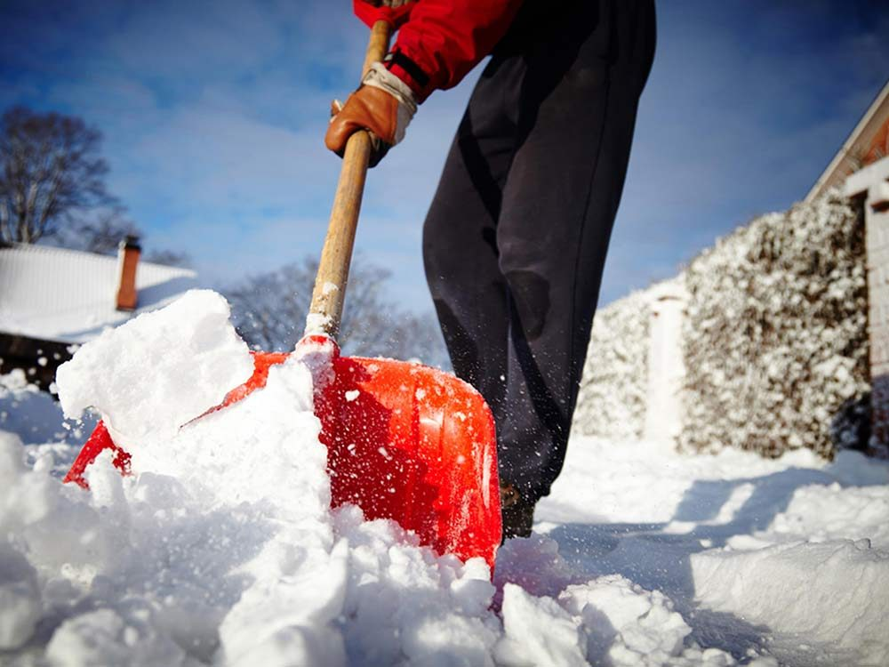 Man shovelling snow