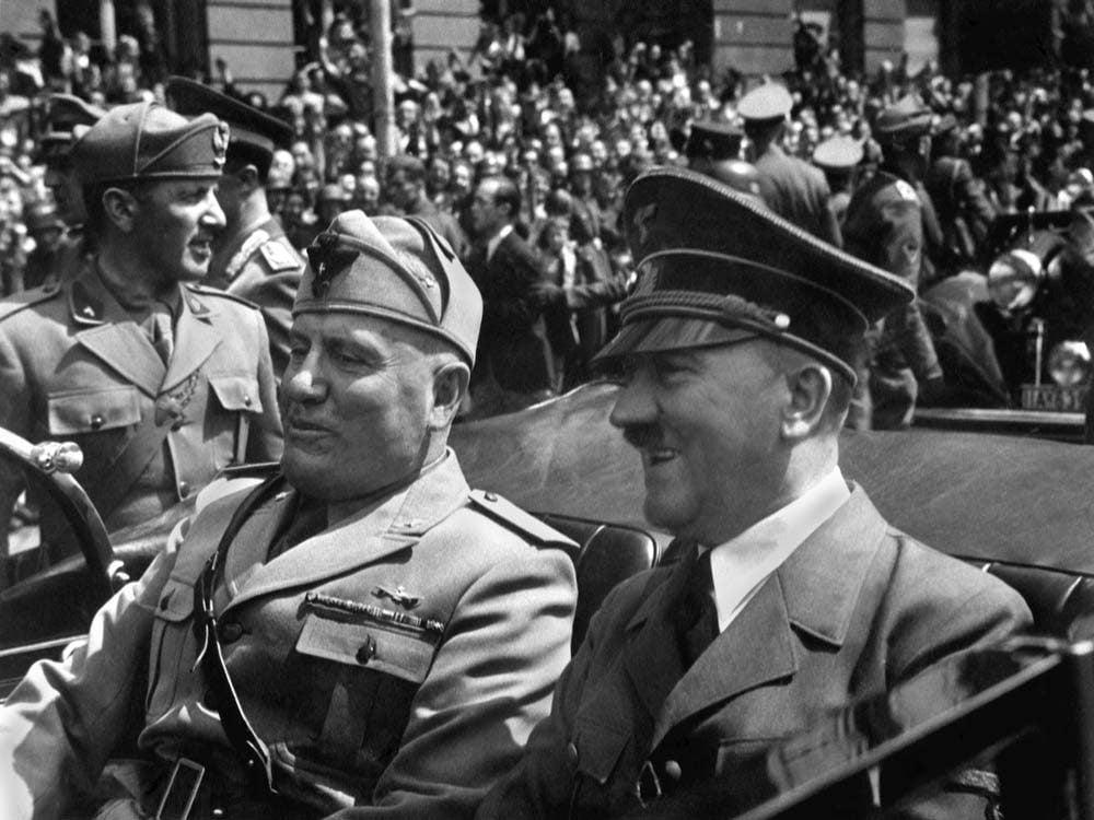 Adolf Hitler and Mussollini