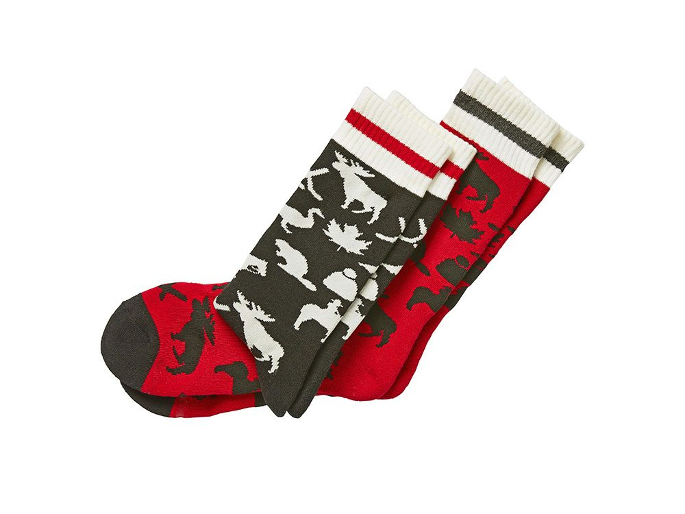 Canadiana socks, HomeSense