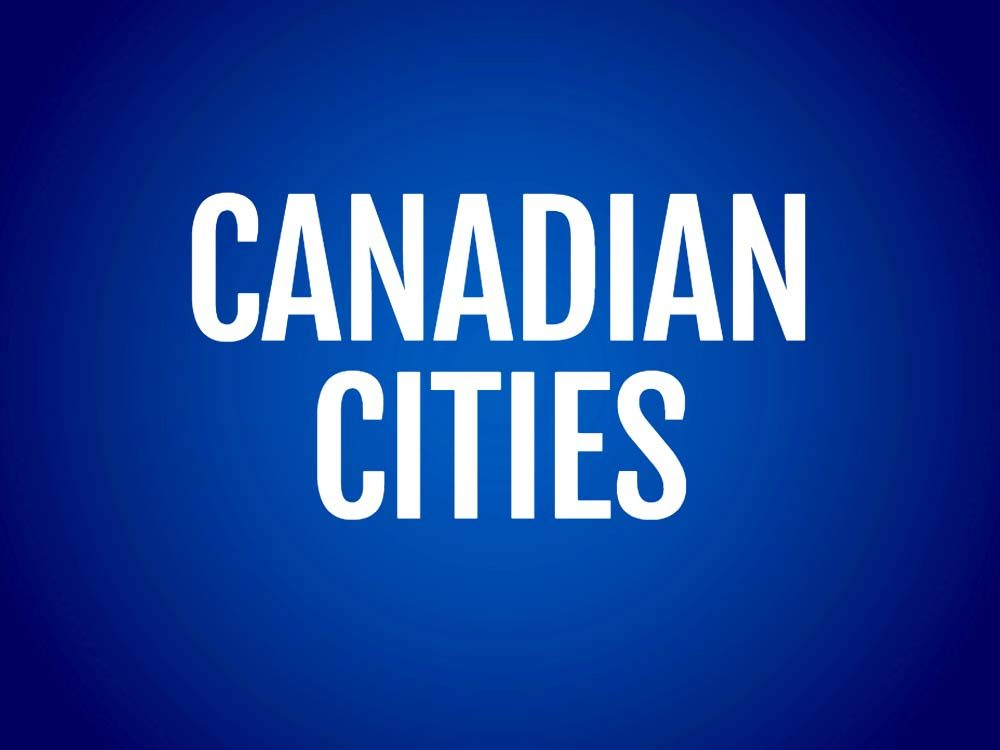 Canadian cities text