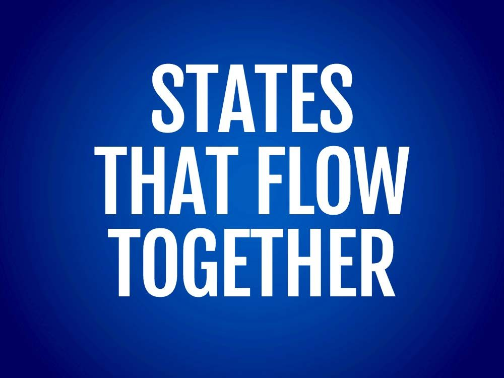 States that flow together text