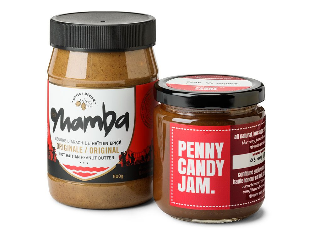 Mamba peanut butter and Penny Candy jam