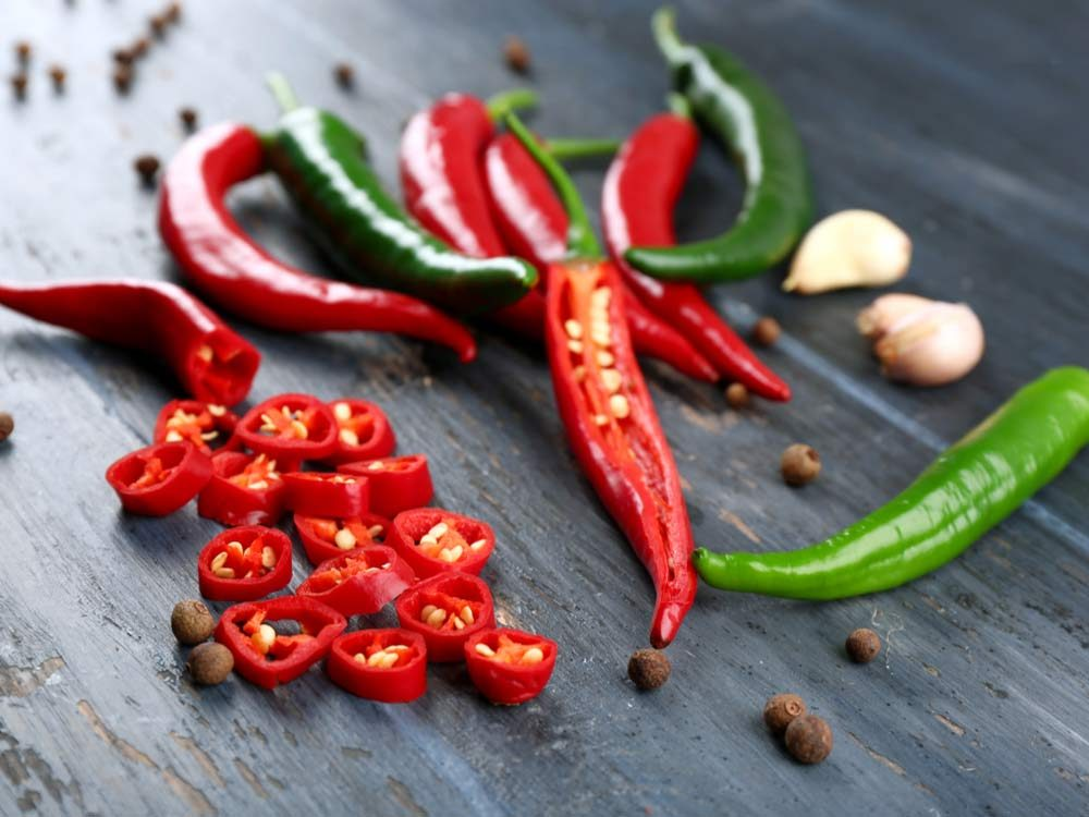 Spicy foods like peppers