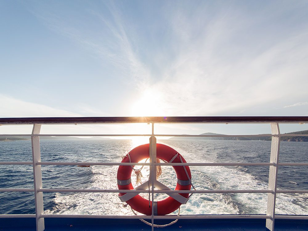 What happens to waste on a cruise ship?