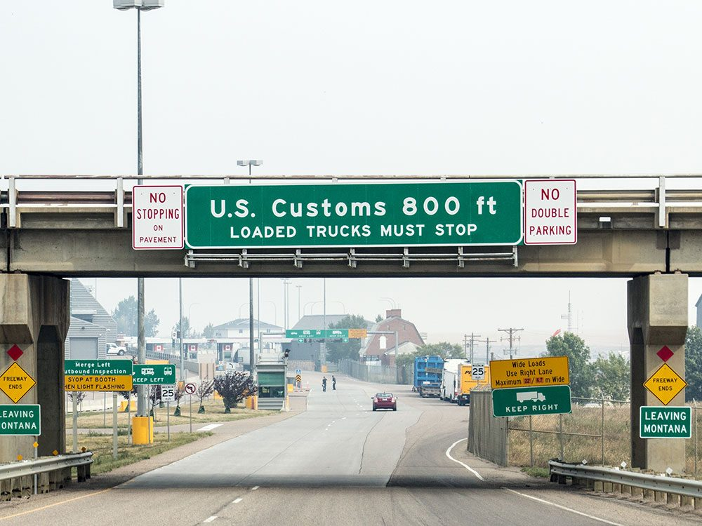 When a poet tries crossing the border