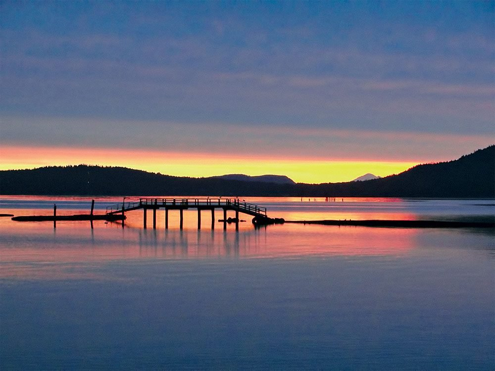 Sunset in Crofton, British Columbia
