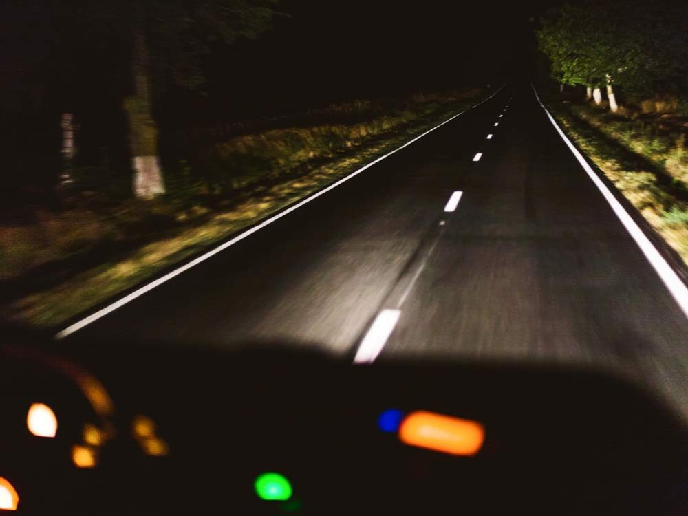Driving car at night
