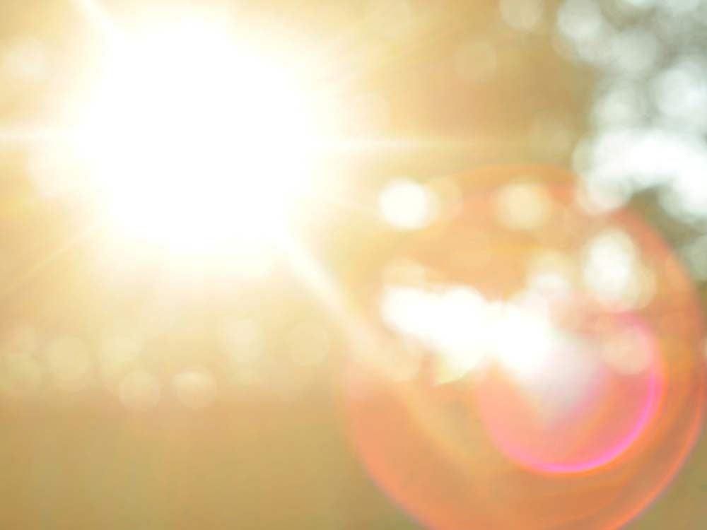 Glare from sunlight