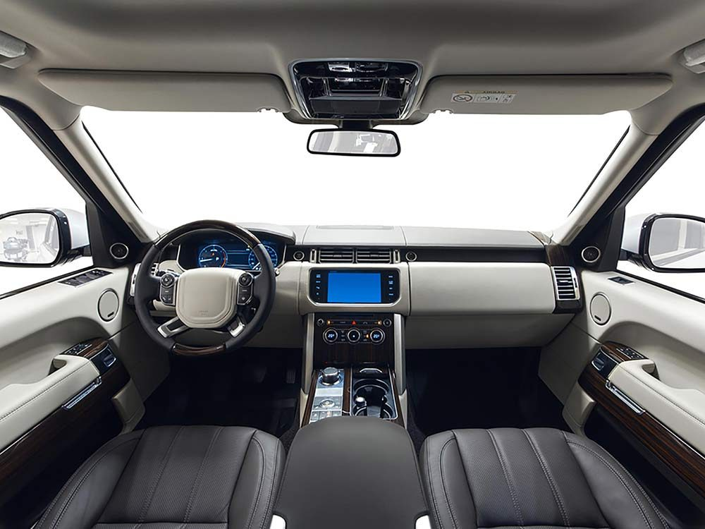 TV in sports utility vehicle
