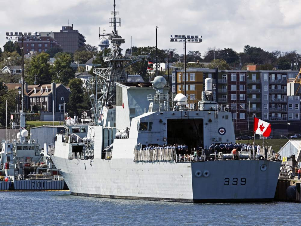 Naval ship in Halifax harbour