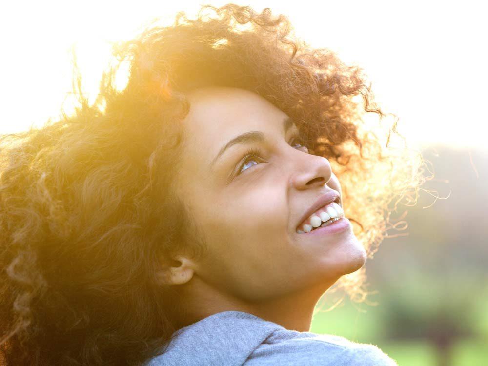Happy attractive woman