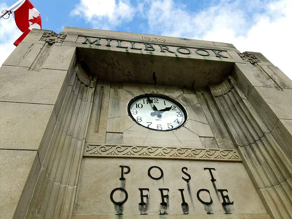 Post office in Millbrook, Ontario