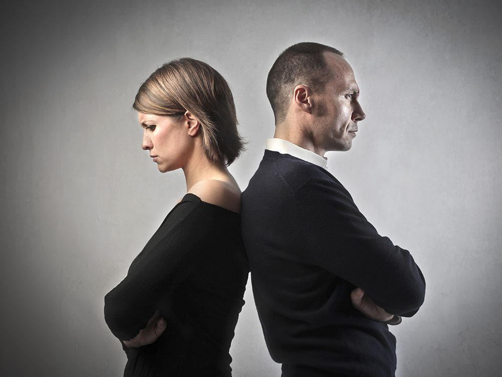 Do you often give each other the silent treatment?