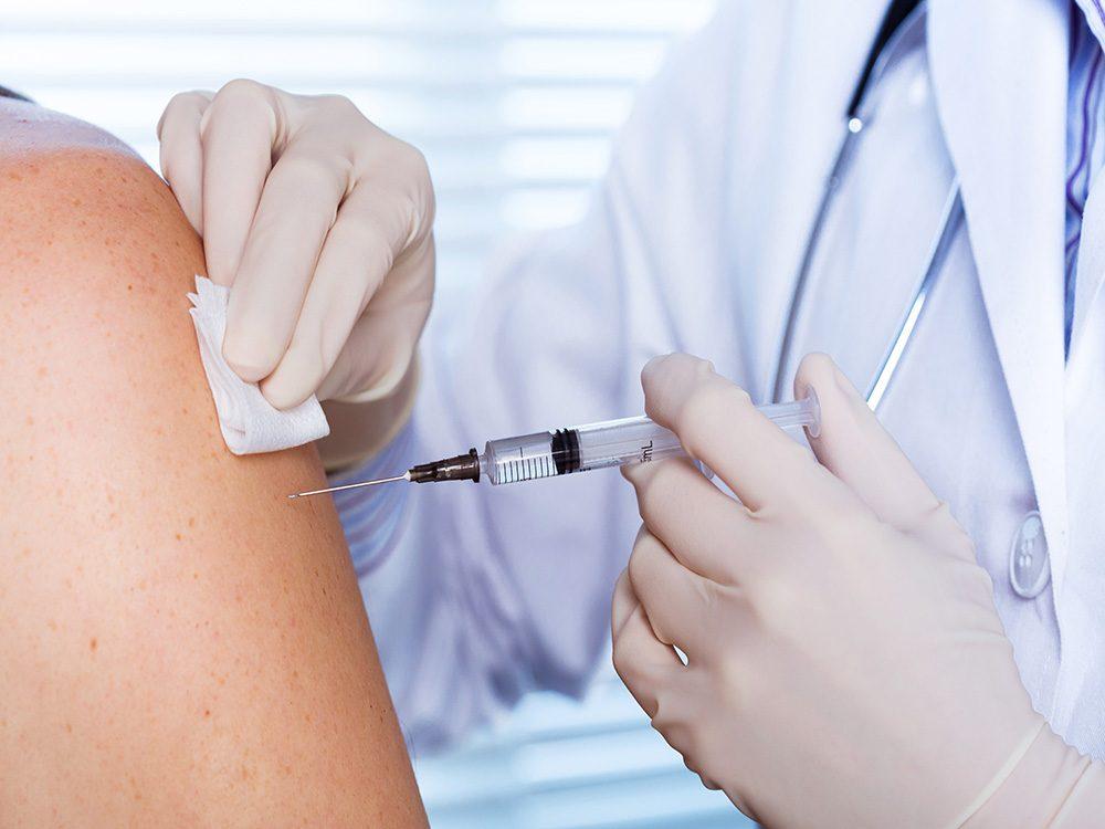 Hepatitis from needle