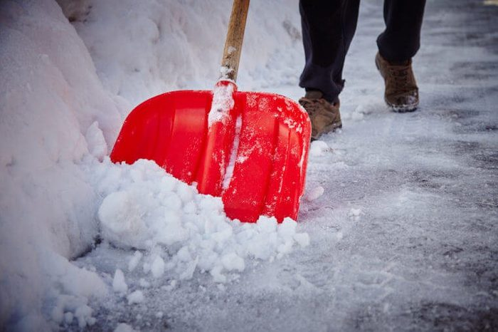 How to melt ice without salt - shovelling snow