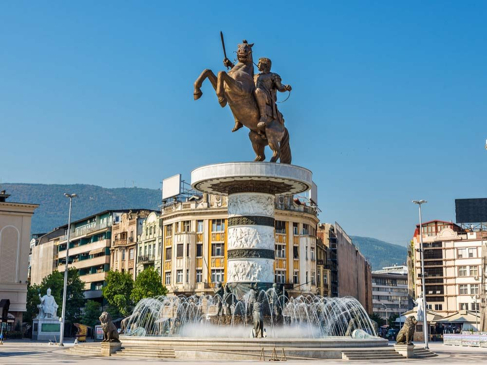 Square in Macedonia
