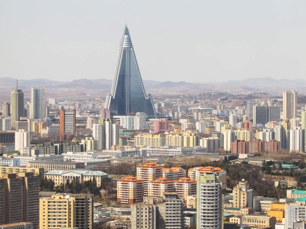 North Korea cityscape