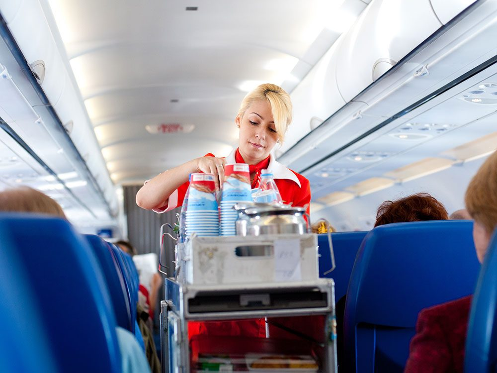 This is the best drink to order on a plane