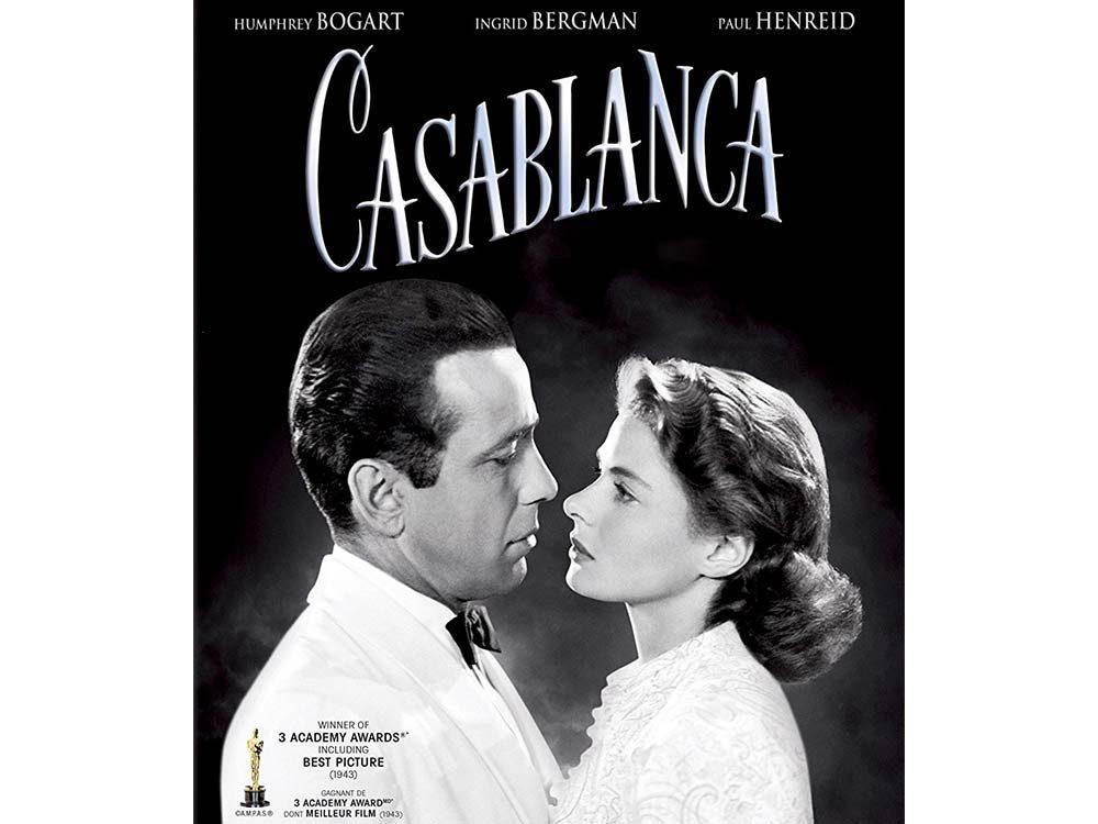 Casablanca starring Ingrid Bergman and Humphrey Bogart