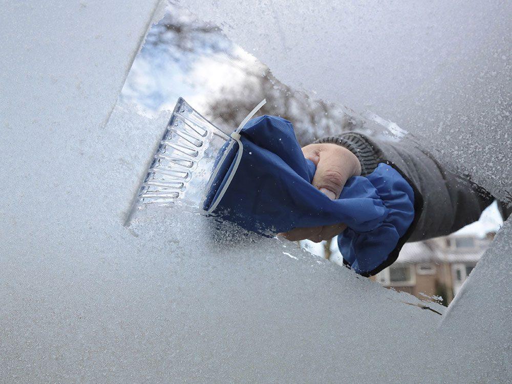 Pack an ice scraper in your car