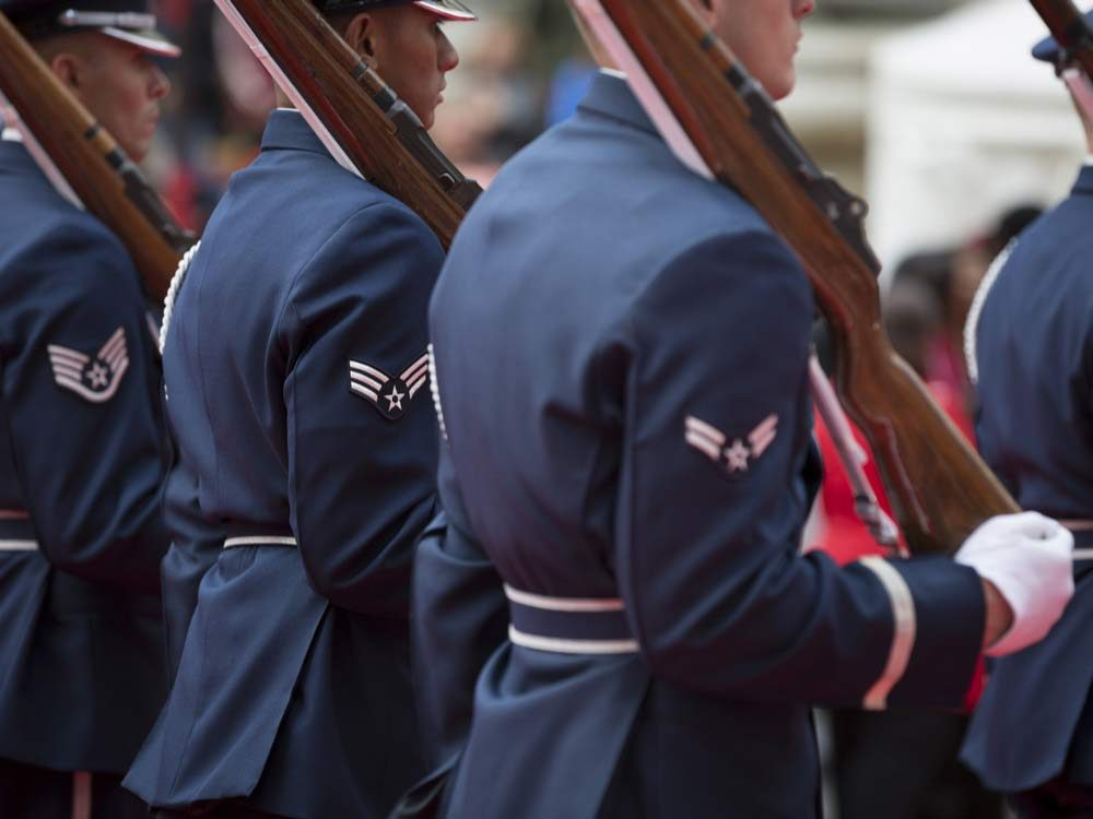American veterans parade