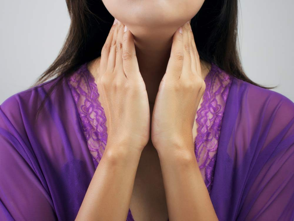 Woman with a thyroid problem