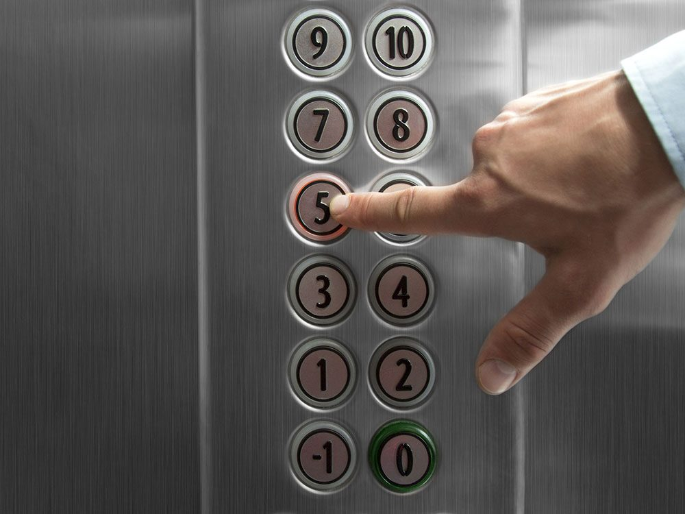 There are hidden cameras in elevators