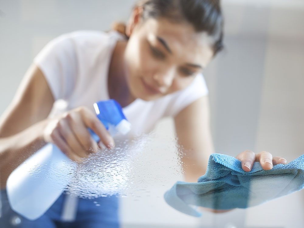House cleaning hacks: Use a spray bottle