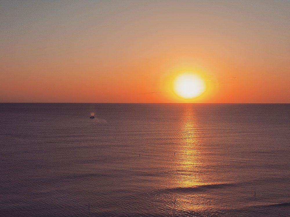 Sunset at Kimpton Seafire, Cayman Islands