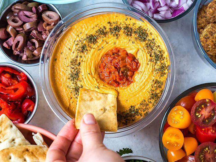 Make your own Mediterranean Nacho Bar