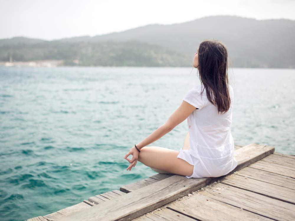 Contemplating woman