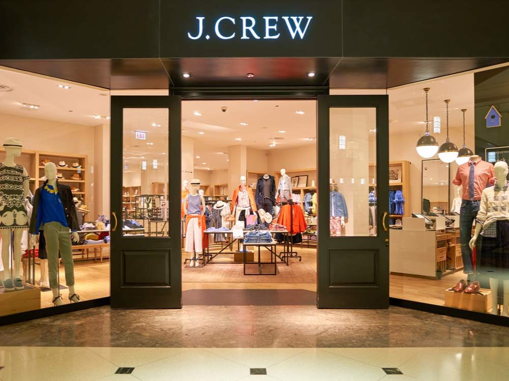 J. Crew store in mall