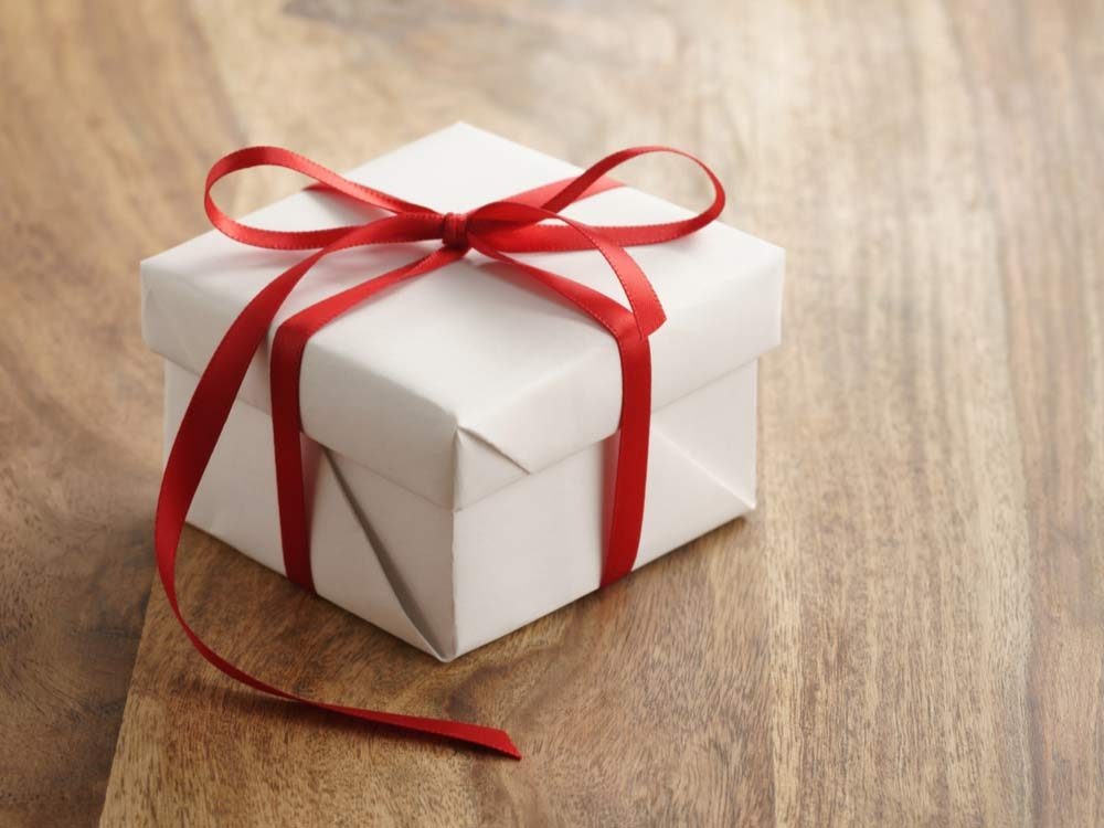 Gift box with ribbon