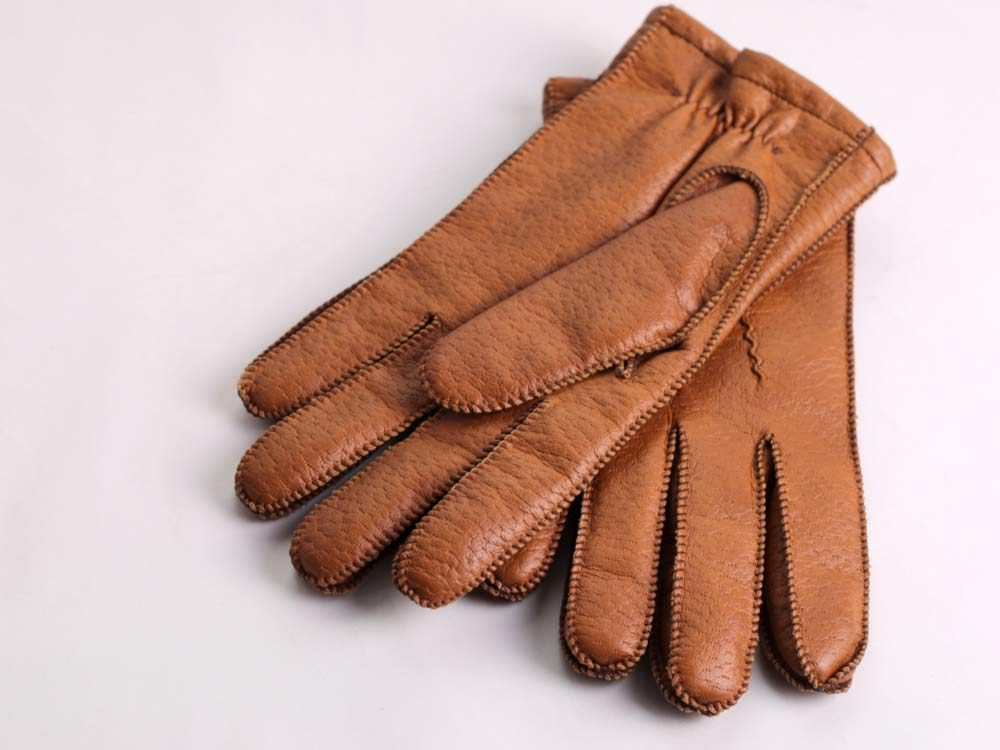 Old brown leather gloves