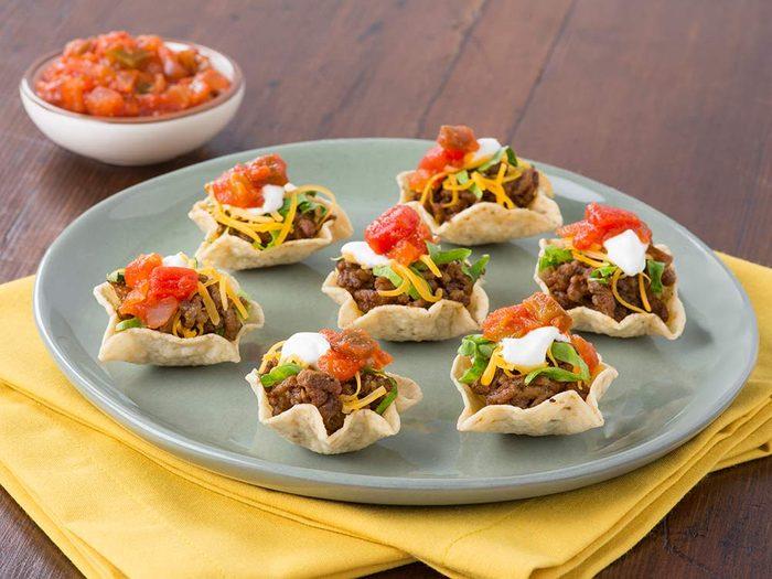 One-bite tacos