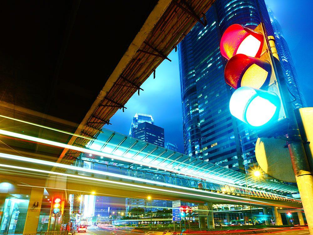 Traffic lights have hidden cameras