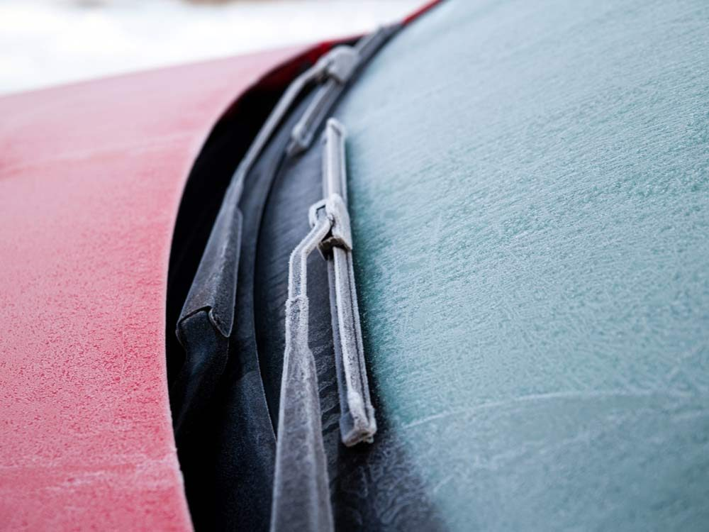 Frozen wiper blades