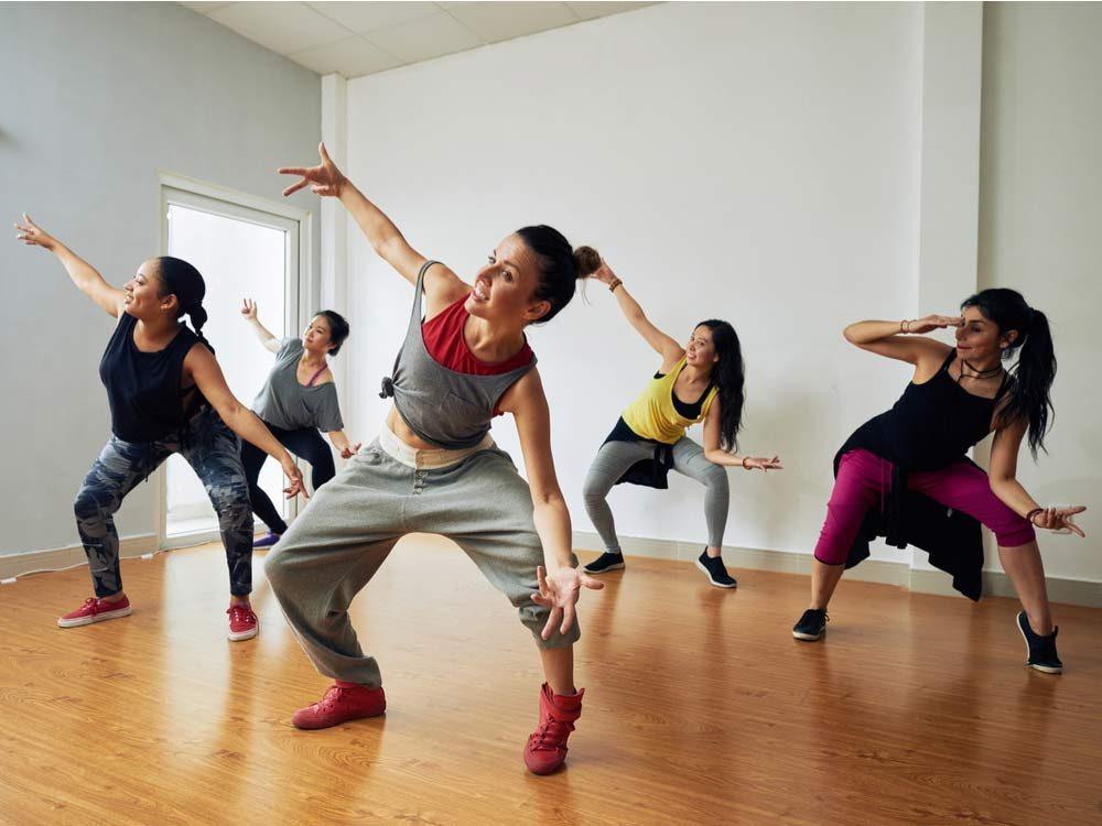Energetic hip-hop dancers