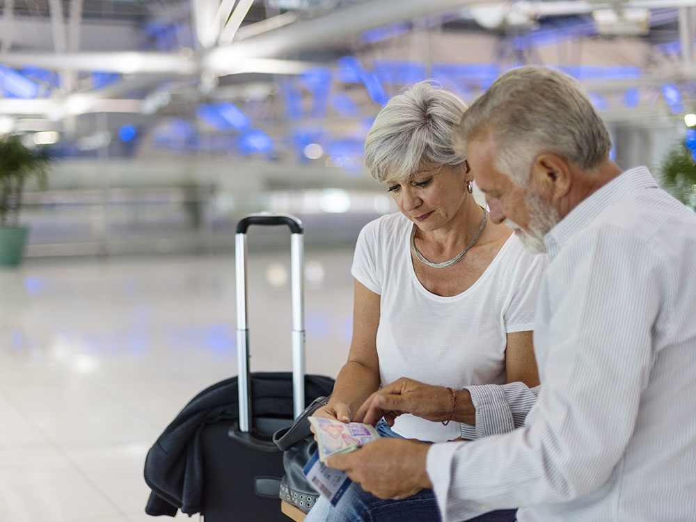Airport tips for seniors at check-in