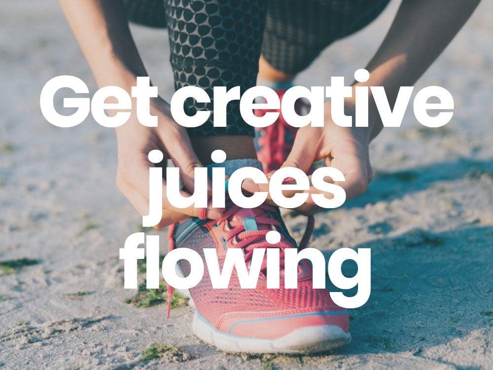 Get creative juices flowing