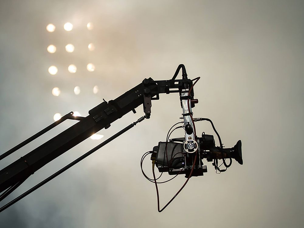 Camera on set of movie