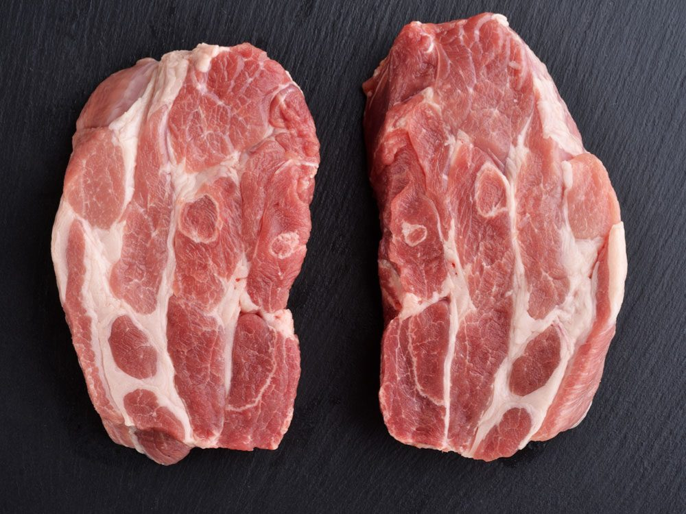 Raw pork shoulder