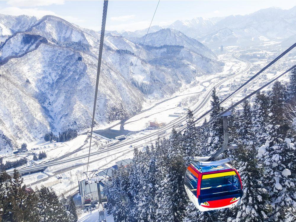 Ski lift in Yuzawa, Japan