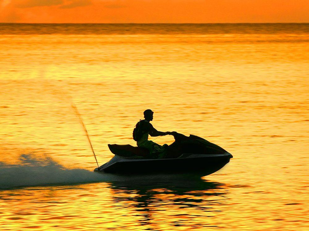 Jet ski in the Cayman Islands