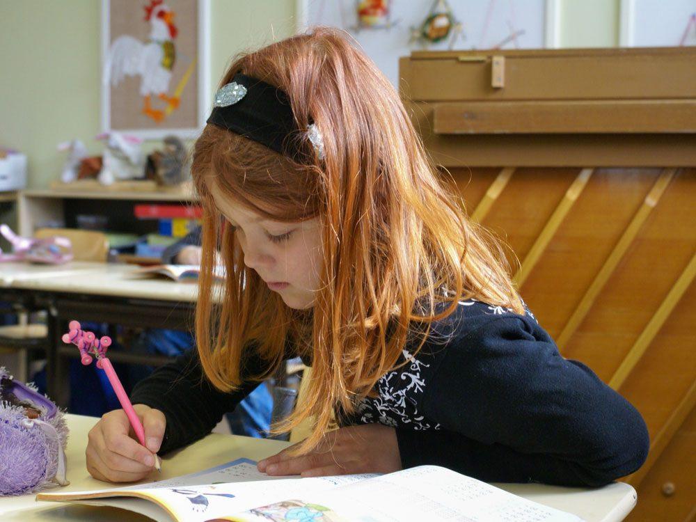 Finnish child in school