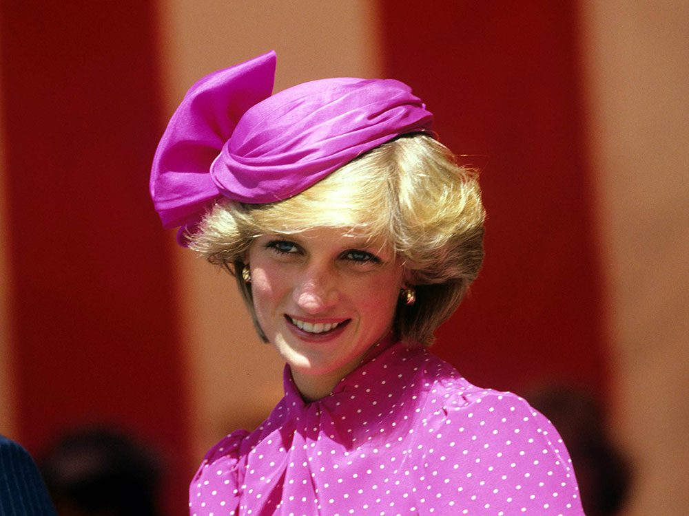 Princess Diana in bright pink outfit