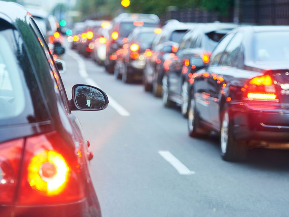 Save on gas by avoiding trafic