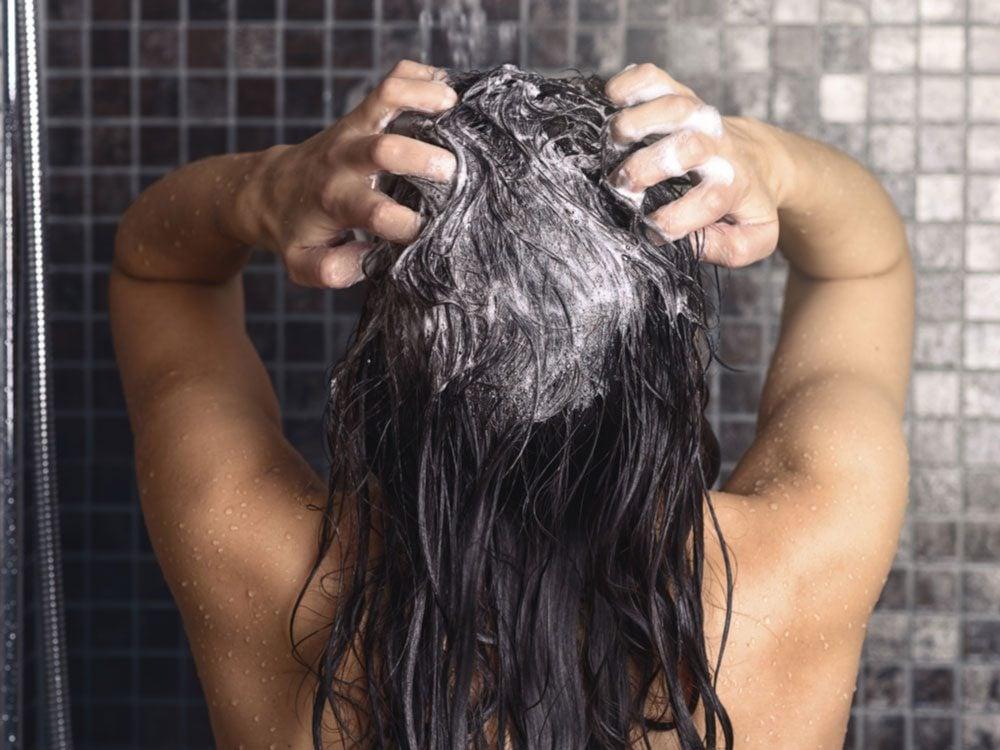 Scalp massage in shower