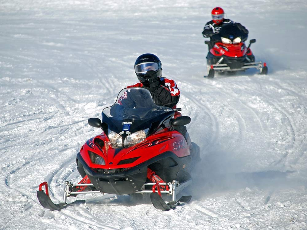 Ski-doo on Rice Lake